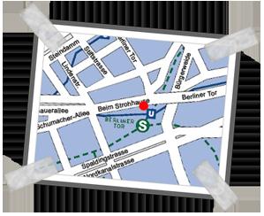 Anfahrtskarte von Rechtsanwalt Klaus-Dieter Sternberg